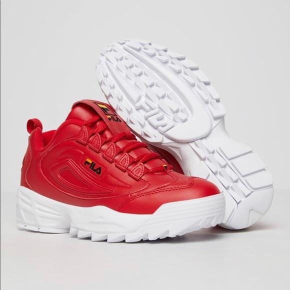 Fila Shoes | Red White | Poshmark